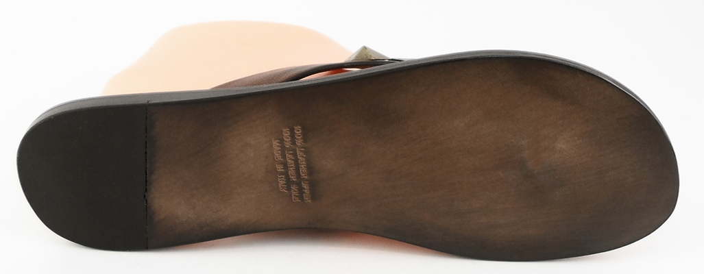 AQUA W0725 Marronee Leather Designer Slides Slides Slides Sandals 9.5 M 910c9d